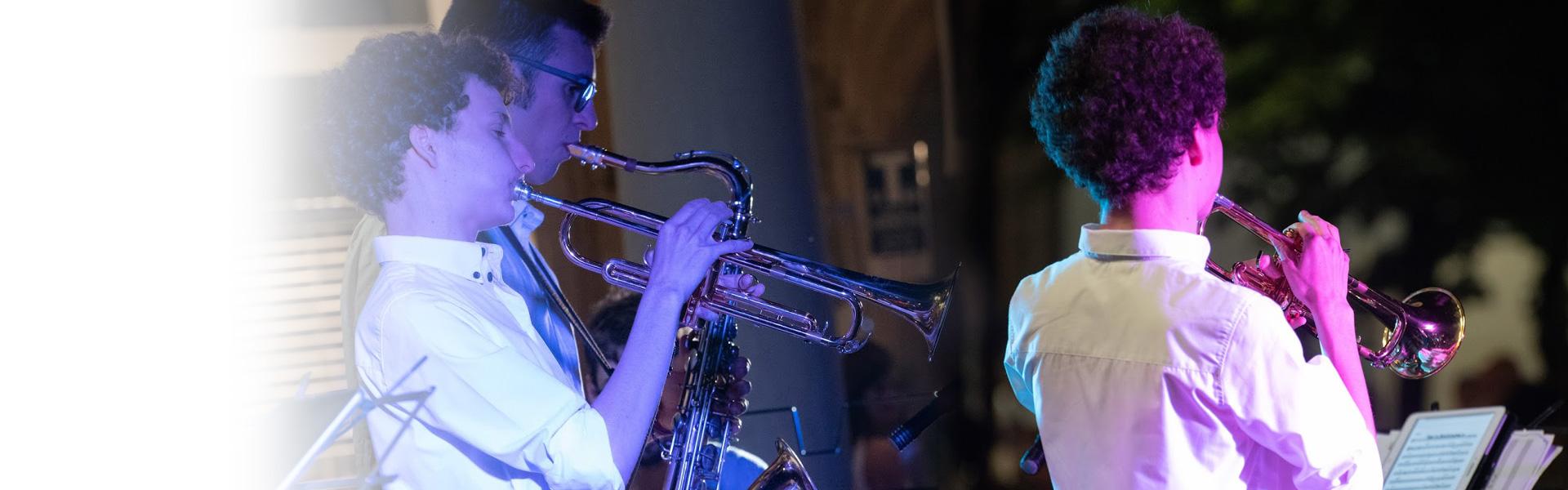 L'associazione con Matteo, trombettista di talento