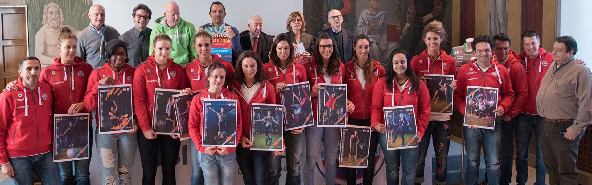 Arriva il Circo: il calendario solidale di Foppapedretti Volley Bergamo per La Passione di Yara